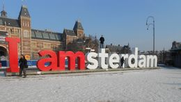 Photo of Amsterdam Amsterdam Hop-On Hop-Off Tour with Optional Canal Cruise I AMsterdam sign