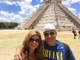 Another pic in front of the Great Pyramid. , Elise R - May 2016