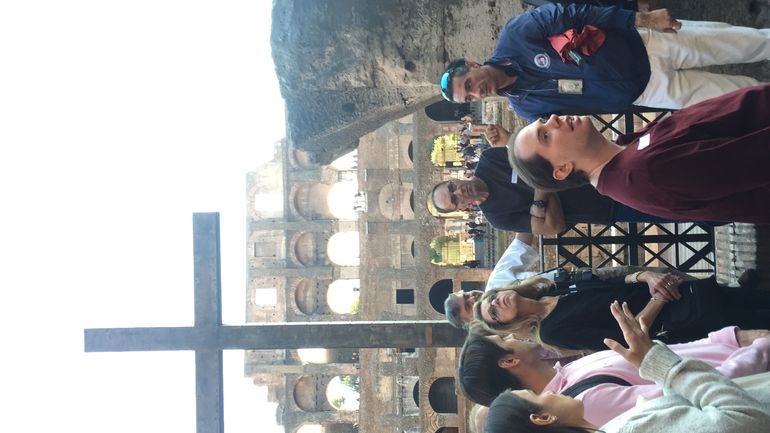 We enjoyed our tour guide and our tour of the Colosseum!