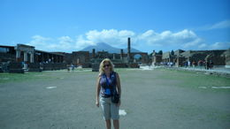 ME AT THE RUINS IN POMPEII , Eva P - July 2011