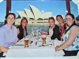 Beautiful group photos taken with the Opera House background. The food was great and the staff on board were very friendly and took good care of us., Nicks - December 2013