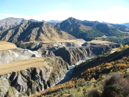 Shotover River from Skipper's Canyon Road - May 2010
