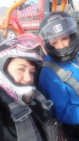 About to take off in the Dune Buggy., Lovenwar - January 2013