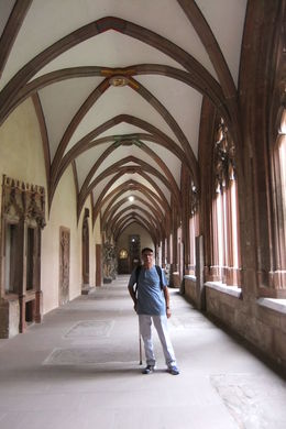 Mario visiting the Cloister of Mainz Cathedral during Wiesbaden and Mainz Day Trip from Frankfurt , Mario S - July 2014