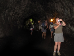 A former lava tube that we were able to walk through., Kevin P - August 2010