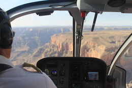 Photo of Las Vegas Viator Exclusive: Grand Canyon Helicopter Tour with Optional Below-the-Rim Landing and Skywalk Upgrade Approaching the canyon