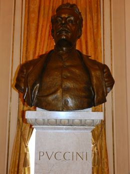 Photo of Milan La Scala Theatre and Museum Tour in Milan Bust of Puccini