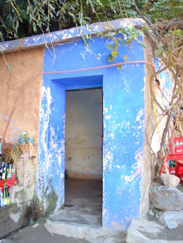 Colorful door in the Atlas Mountains, Cat - January 2012