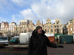 Our guide Terry O'Leary pointing out the crooked houses, we were in the Jewish area and he was explaining to us the very sad circumstances of the people during the Nazi invasion and their plight. , Brenda T - January 2016