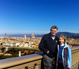 Overlooking the city of Florence from the Michelangelo Piazza. We had a wonderfully clear crisp March day, perfect for photography. , Judith - March 2012