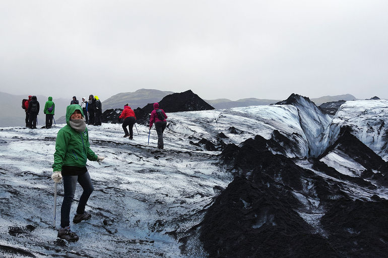 Here is a picture of us hiking on the Sólheimajökull glacier!!!! What an incredible day.
