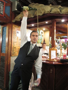 Photo of Madrid Madrid Tapas Night Walking Tour Learning to pour  and quot;cider and quot;
