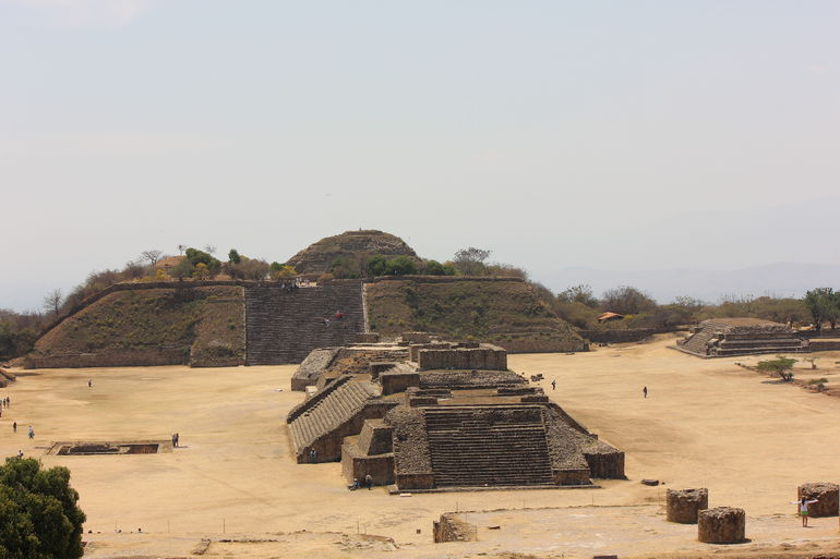 View of the archeological site of Monte Alban.