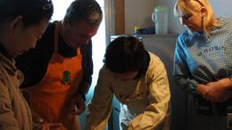 Photo of Xian Experience Xi'an: Dumpling Making and Family Cooking Class Rolling the dumpling