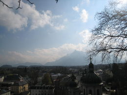 This is a view of Salzburg as we were walking to Monastery where Sound of Music was filmed. Very scenic and beautiful! , Thomas A - April 2014