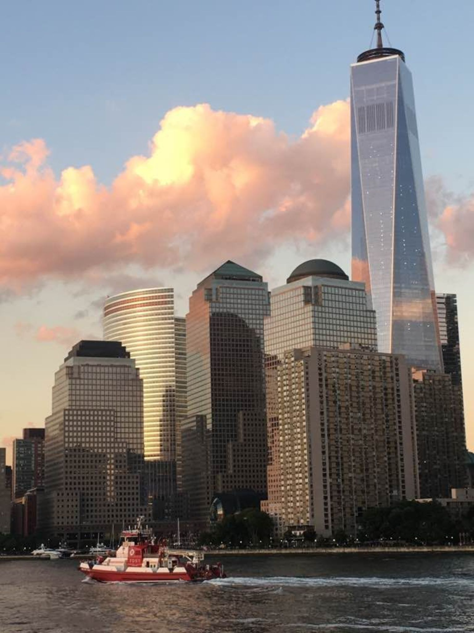 View of the new World Trade tower