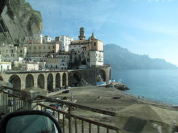 """First view of Amalfi on our full-day tour of the """"Costiera Amalfitana"""". We started our tour in Sorrento, where the Azamara Quest was anchored.. , Kim - January 2011"""