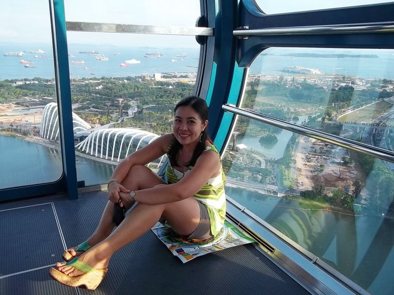 Chilling High Above in the Flyer - Singapore