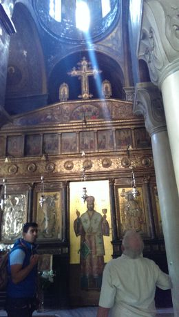 visiting the Christian Church in Plaka , athens - October 2013