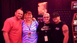 My sister and I with horney Mike and Rolli , Mandy H - March 2014