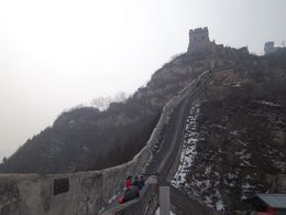 Before I started climbing up the Great Wall , Carla S - February 2011