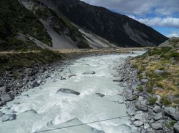 Hooker River downstream from swing bridge, John K - April 2010