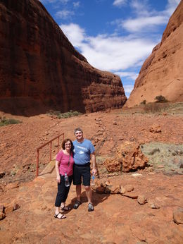 'Hiking' the Wolpa Gorge, Uluru-Kata Tjuta National Park, Australia, March 3, 2013. , Maria L - April 2013
