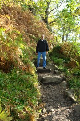 Hiking back down to the Loch., Sheila R - October 2008