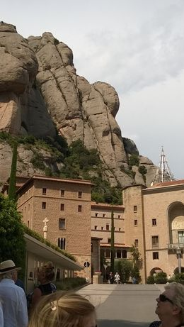 Photo of Barcelona Montserrat Half-Day Small-Group Tour with Optional Cable Car Ride and Skip-the-Line Ticket to La Sagrada Familia Look at the mountain...