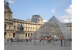This photo was taken as we were about to enter the Louvre museum. , Nicole F - June 2011