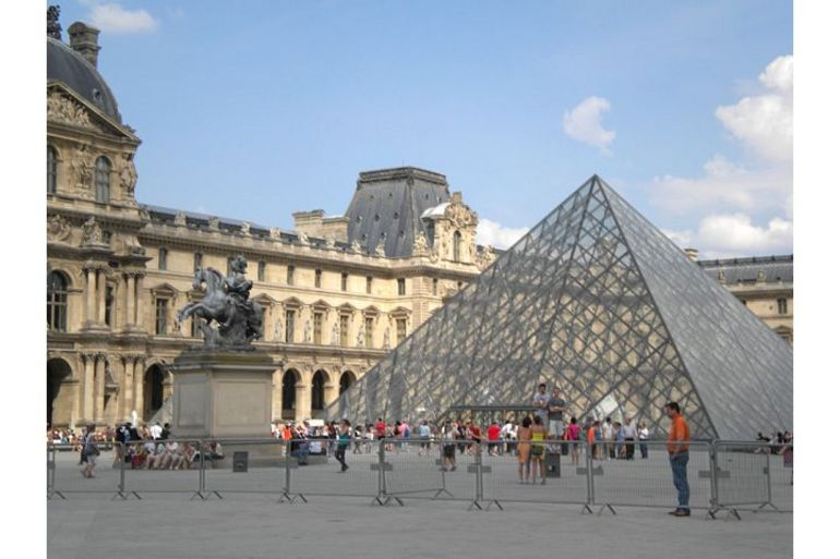 Outside the Louvre Museum - London