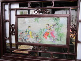 Photo of Shanghai Suzhou and Zhouzhuang Water Village Day Trip from Shanghai Silk Painting