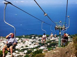 Photo of Rome 3-Day Italy Trip: Naples, Pompeii, Sorrento and Capri The Chair lift in Ana Capri