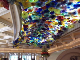 Photo of Las Vegas Ultimate Las Vegas City Tour The glass flower celling in the Bellangio