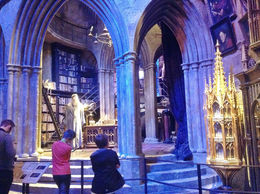 The set for Dumbledore's office was amazing. It felt like I actually stepped into the movie scene. , Angela F - November 2013