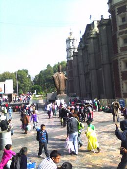 Photo of Mexico City Teotihuacan Pyramids and Shrine of Guadalupe The Square outside the Shrine