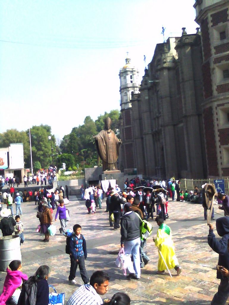 The Square outside the Shrine - Mexico City