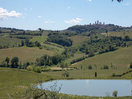 View toward San Gimignano from Poggio Alloro , tommye - May 2014