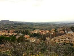 The panoramic view in San Gimignano , Kristine Renna - December 2014