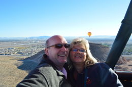 Tom and Cindy on our Hot Air Balloon ride , Tom and Cindy - November 2013