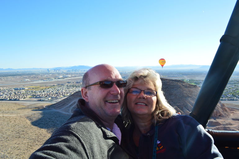 Tom and Cindy on our Hot Air Balloon ride