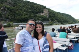 Jorge and Anabelle celebrating their 17th anniversary on board the Rhine River Cruise. , Anabelle D - September 2014