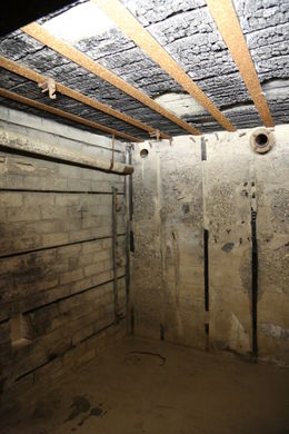 Bunker with charred timbers from Alied flame thrower attacks during D-Day invasion. , John C - September 2012