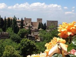 From Summer palace gardens looking across to Alhambra , cutting.edge.video - May 2013