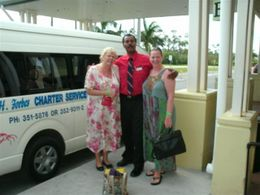Myself and my sister with Chris , Our airport transfer driver on our final departure trip to the airport. , Sharon B - February 2011