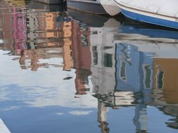 Look at the colorful buildings reflected in the water. , Terri R - September 2014