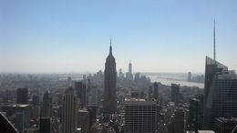 Photo of New York City Top of the Rock Observation Deck, New York ESB, Freedom Tower, Statue of Liberty