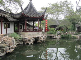 Beautiful gardens and pond in Suzhou., Julie - June 2012