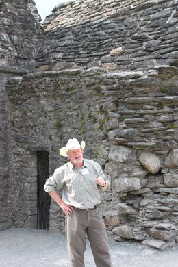 Our tour guide at Glenadough Monastery , Timothy P - August 2013
