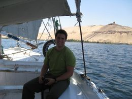 Lee on a felucca to the Lord Kitchen Botanical Garden in Aswan. , Ronald M - September 2011